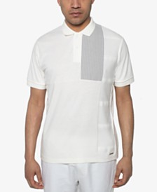 Sean John Men's Regular-Fit Pieced Colorblocked Polo