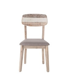 Newport Dining Chairs with Taupe Upholstered Seat, Set of 2