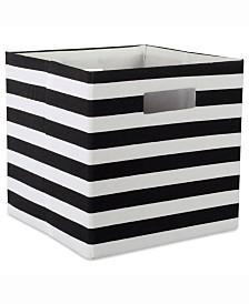 Design Import Storage Cube Stripe, Square