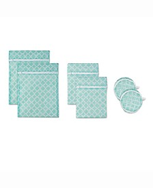 Design Import Lattice Set F Mesh Laundry Bag, Set of 6