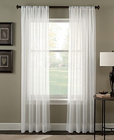 """Trinity 51"""" x 144"""" Crinkle Voile Sheer Curtain Panel"""
