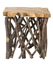 East At Main's Pope Teak Accent Table
