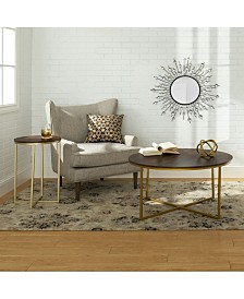 2-Piece Round Coffee Table Set