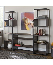 3-Piece Rustic Bookcase Set
