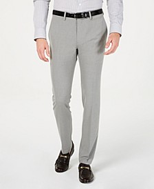Men's Gabardine Skinny/Extra-Slim Fit Performance Stretch Flat-Front Dress Pants