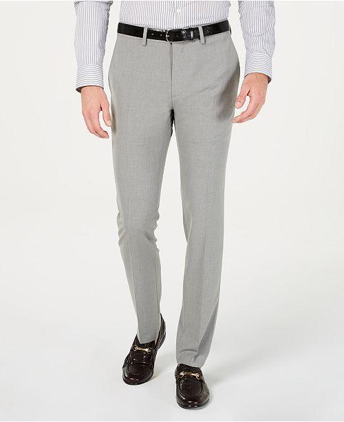 Kenneth Cole Reaction Men's Gabardine Skinny/Extra-Slim Fit Performance Stretch Flat-Front Dress Pants