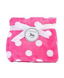 Fleece Polka Dot Baby Blanket