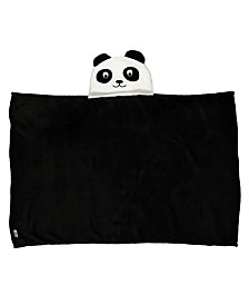 Toddler Plush Panda Hooded Blanket