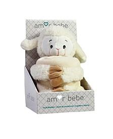 3Stories Toddler Plush Lamb With Blanket
