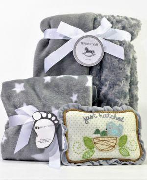 Image of Gray Baby Blanket Gift Set