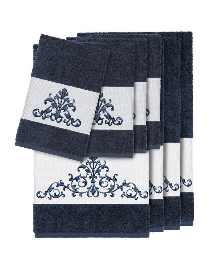 Linum Home - Turkish Cotton Scarlet 8-Pc. Embellished Towel Set