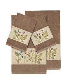 Linum Home Turkish Cotton Serenity 4-Pc. Embellished Towel Set