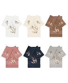 Linum Home Turkish Cotton Springtime 3-Pc. Embellished Towel Set