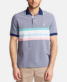 Men's Classic Fit Cotton Striped Oxford Polo