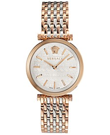 Women's Swiss V-Twist Two-Tone Stainless Steel Bracelet Watch 36mm