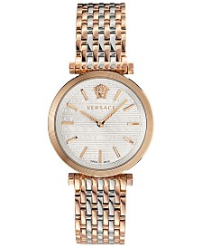 Versace Women's Swiss V-Twist Two-Tone Stainless Steel Bracelet Watch 36mm