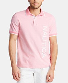 Nautica Men's Logo Graphic Polo