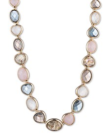 "Gold-Tone Stone Collar Necklace, 16"" + 3"" extender"