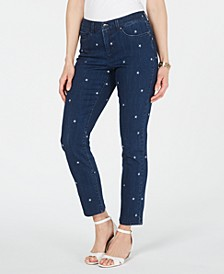 Embroidered Bristol Skinny Ankle Jeans, Created for Macy's