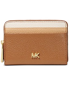MICHAEL Michael Kors Tricolor Leather Zip-Around Coin & Card Wallet