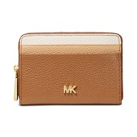 Michael Kors Tricolor Leather Zip-Around Coin & Card Wallet
