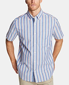 Men's Classic Fit Striped Button-Down Shirt
