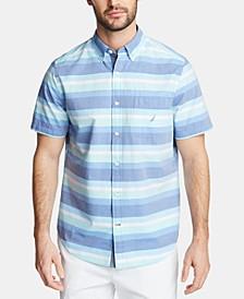 Men's Classic Fit Striped Button-Down Shirt