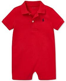 Polo Ralph Lauren Baby Boys Cotton Interlock Polo Shortall