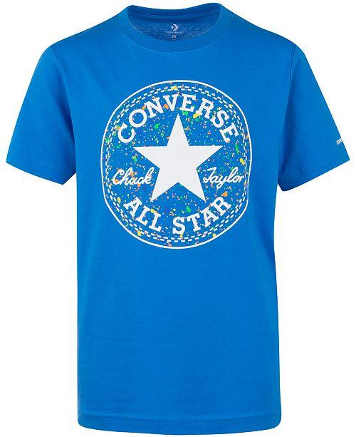 Converse Big Boys All Star Splatter-Print Logo T-Shirt