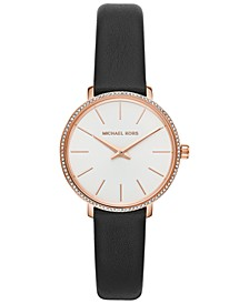 Women's Mini Pyper Black Leather Strap Watch 32mm