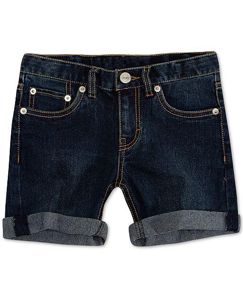 Levi's Big Girls Cuffed Hem Denim Shorts