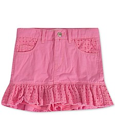 Toddler Girls Eyelet-Trim Denim Scooter Skirt