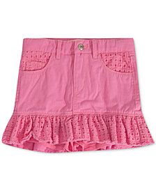 Levi's® Little Girls Eyelet-Trim Denim Scooter Skirt