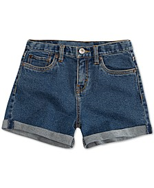 Big Girls Cuffed Hem Denim Shorts