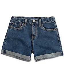 Levi's® Big Girls Cuffed Hem Denim Shorts
