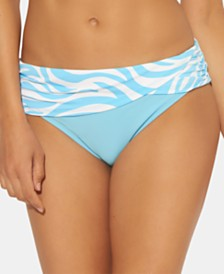 Bleu by Rod Beattie Printed Sarong Hipster Bottoms