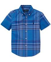 54a83df09 Polo Ralph Lauren Little Boys Plaid Cotton Poplin Shirt