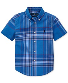 Polo Ralph Lauren Toddler Boys Plaid Cotton Poplin Shirt