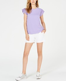 MICHAEL Michael Kors Lace-Sleeve Top & Shorts