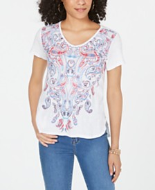 Style & Co Petite V-Neck T-Shirt, Created for Macy's