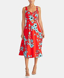 RACHEL Rachel Roy Floral-Print Cutout Fit & Flare Dress