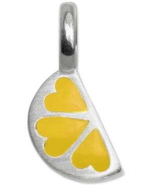 Mini Lemon Slice Charm in Sterling Silver