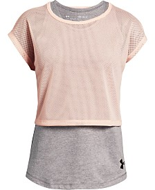 Under Armour Big Girls Infinity Layered-Look T-Shirt