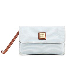 Dooney & Bourke Lizard Embossed Leather Milly Wristlet