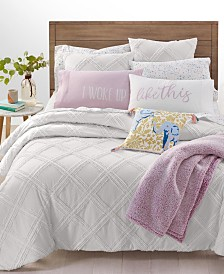 Whim by Martha Stewart Collection Chenille Trellis Bedding Collection, Created for Macy's