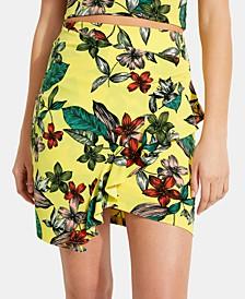 Mairin Printed Ruffled Skirt