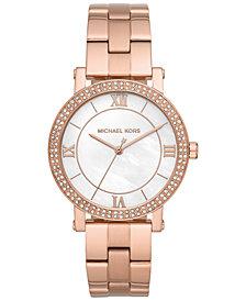 Michael Kors Women's Norie Rose Gold-Tone Stainless Steel Bracelet Watch 38mm