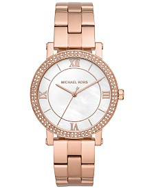 Michael Kors Women's Norie Rose Gold-Tone Stainless Steel Bracelet Watch 38mm