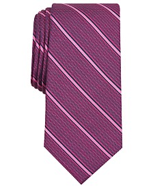 Alfani Men's Stripe Slim Tie, Created for Macy's