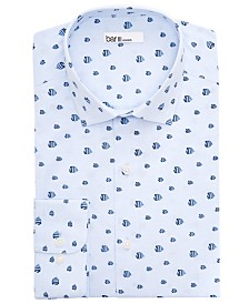 Bar III Men's Slim-Fit Fly Fish Dress Shirt, Created For Macy's